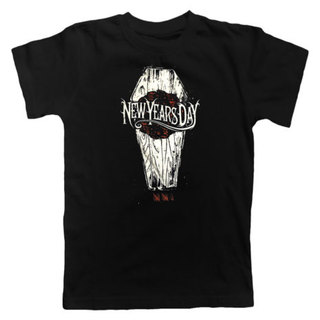 NEW YEARS DAY Coffin Black Tshirt