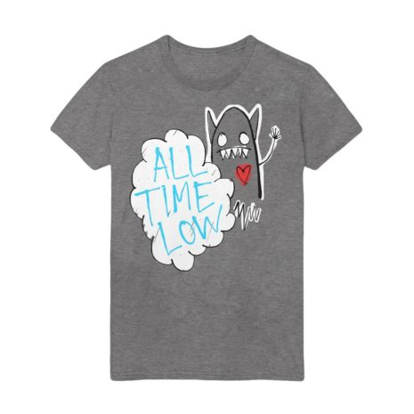 ALL TIME LOW Heart Monster Athletic Tshirt