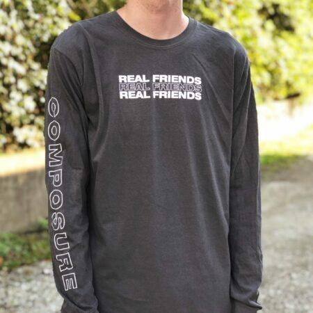 REAL FRIENDS Pepper Comfort Colors LS Tshirt