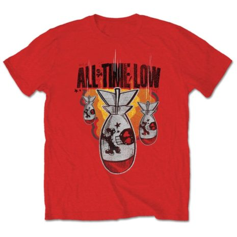 All time low da bomb red tshirt