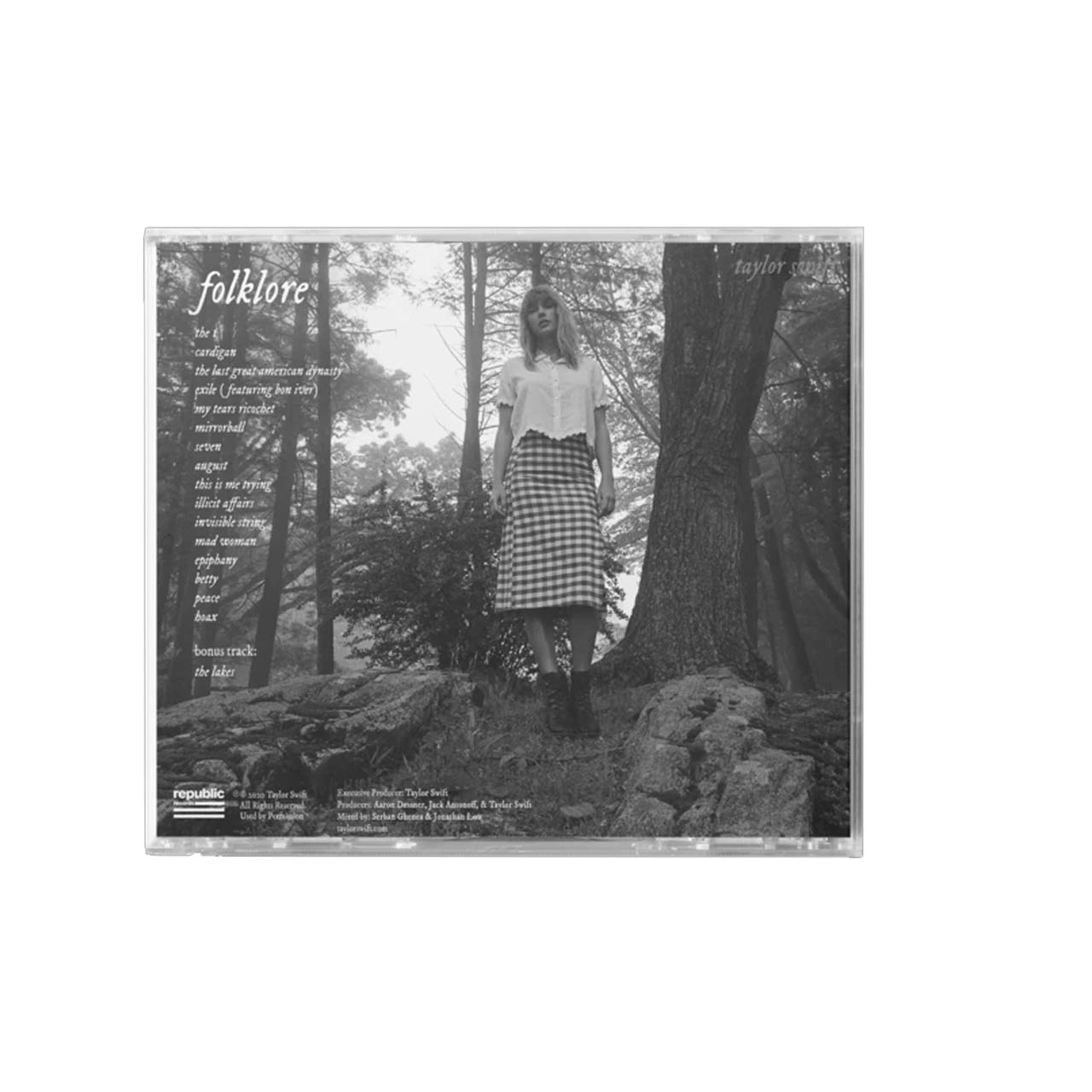 Taylor Swift Folklore Stolen Lullabies Back CD