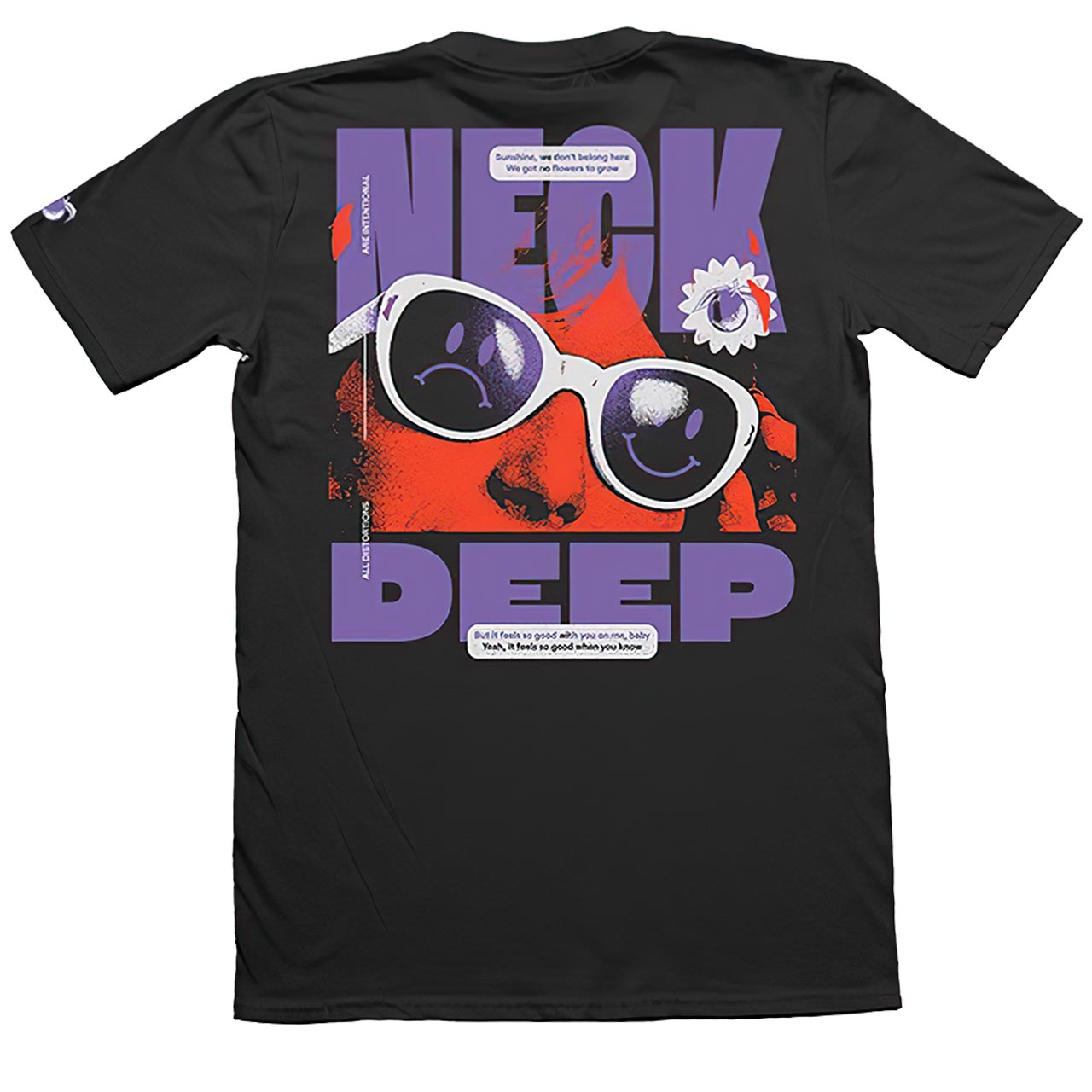 NECK DEEP Sunglasses Tshirt Back