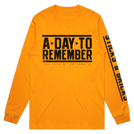 A DAY TO REMEMBER Sticks and Bricks Longsleeve