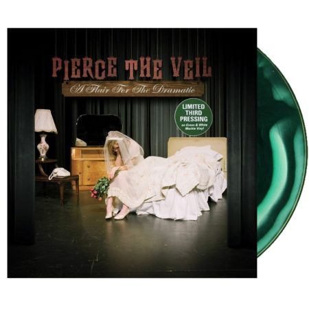 Pierce The Veil - A Flair For The Dramatic Green and White Marble Vinyl