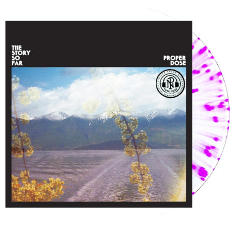 The Story So Far Proper Dose White In Clear Purple Splatter Vinyl