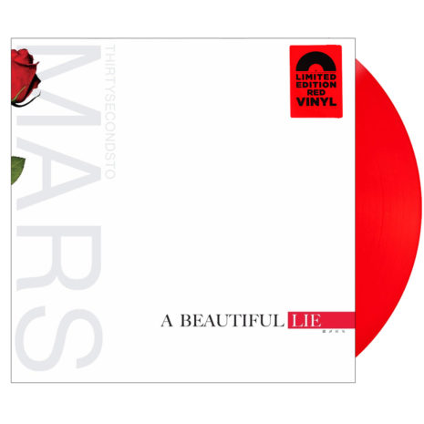 THIRTY SECONDS TO MARS A Beautiful Lie Red Vinyl