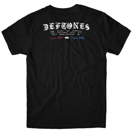 DEFTONES Static Skull Tshirt Back