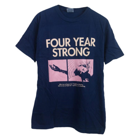 FOUR YEAR STRONG Brain Pain Navy Tshirt Front