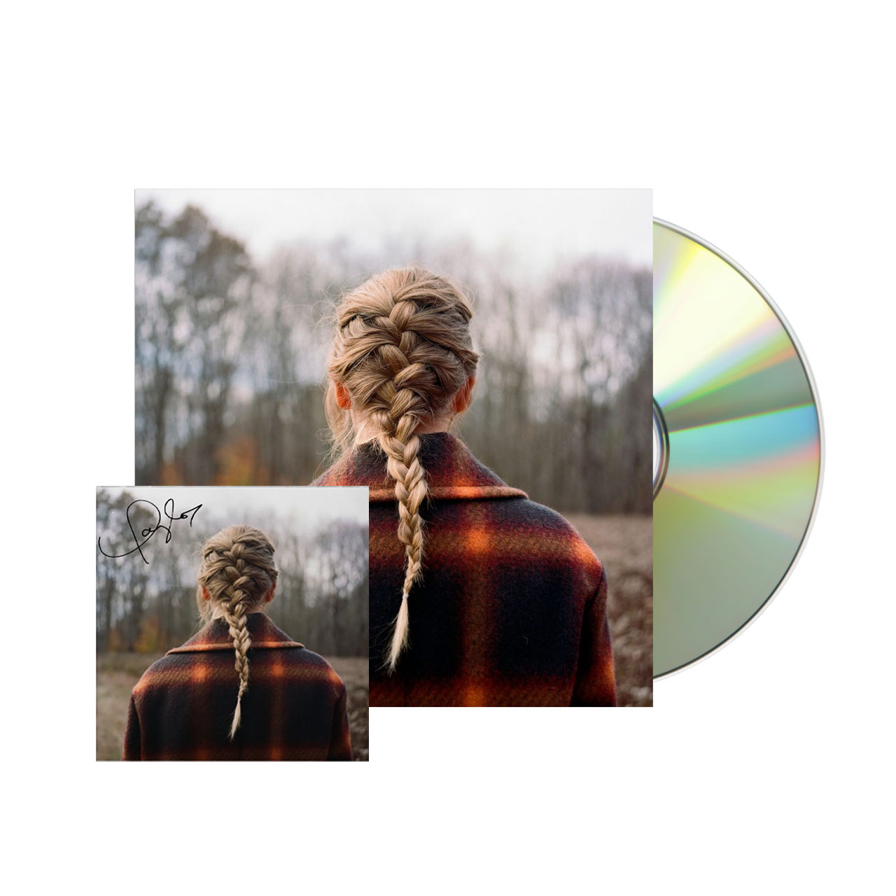 TAYLOR SWIFT evermore Deluxe Edition Signed CD